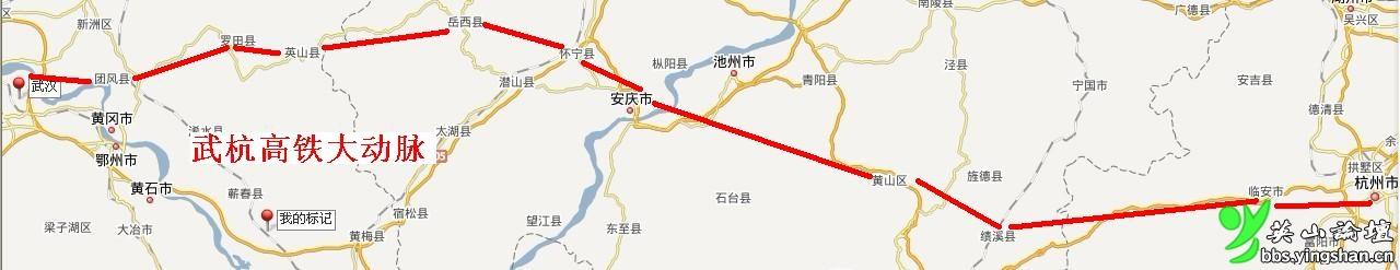 """呼吁杭州到武汉的""""直线""""高速铁路"""
