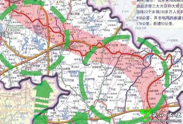 大别山红色旅游公路地图